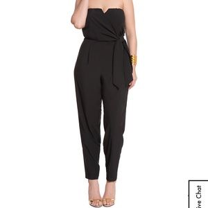 Eloquii Studio Sweetheart Neckline Black Jumpsuit